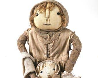 Primitive handmade doll from Kentucky