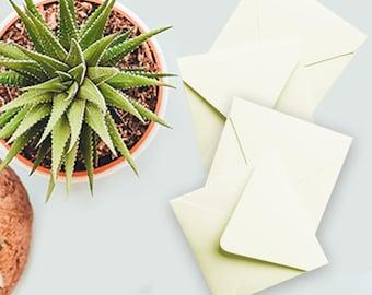 "CLEARANCE SALE: Mini Envelopes (2.75"" x 2.75"" - set of 24) CREAM"