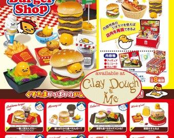 CLAYDOUGH&ME Re-ment Gudetama Burger Shop/ Rement Gudetama Burger Shop/Re-ment Gudetama/Re-ment Sanrio/ Miniature food