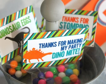 Dinosaur party favor (10), dinosaur party treat, dinosaur birthday treat, dinosaur party treat, treat topper, dinosaur party bag,