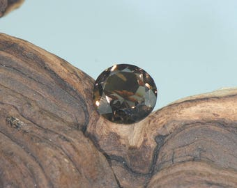 Smokey Quartz natural untreated faceted round gemstone 12.4 carats
