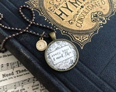 every hour i need thee hymn (tiny gold clock) necklace