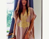 10 OFF Summer SALE  Christmas GiftTrendy Beige Marrakech Resort Caftan Kaftan beach cover ups resortwearmaxi dresses birthdays hone