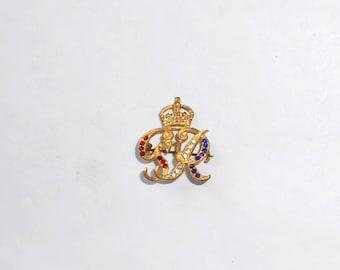 WWII Royal Engineers bejeweled Sweetheart Pin. Rare.
