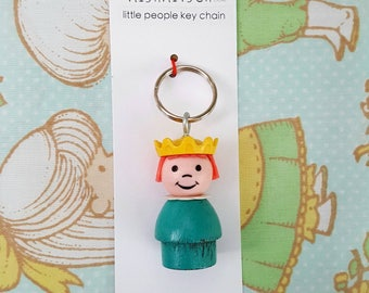 Keychain - Vintage Fisher Price little people - princess key ring