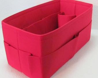 Ready to Ship ..Neverfull GM (14.5x7x7)... Red.Inside & outside pockets, bottle pocket, vinyl.bottom.. Purse Insert ORGANIZER . . -  #A9