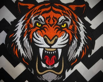 Large Tiger back patch, sew on patch, iron on patch, Tiger patch