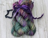 "SALE Destash , Hand dyed yarn silk merino DK, Cameron, ""Indo"", knitting yarn, silk and wool yarn,"