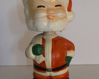 Vintage Antique Composition Bobble Head Nodder Christmas Santa Japan
