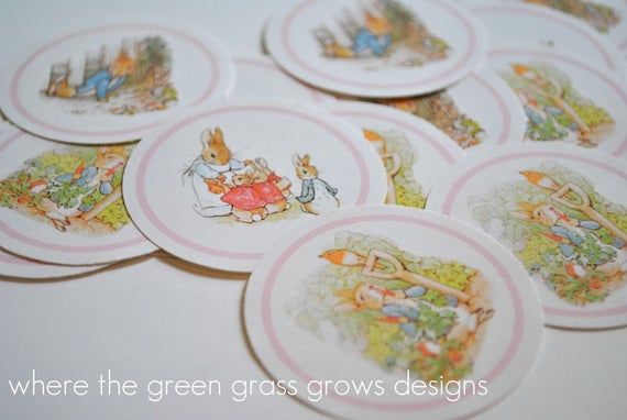 Beatrix Potter Peter Rabbit Sticker Labels - READY TO SHIP