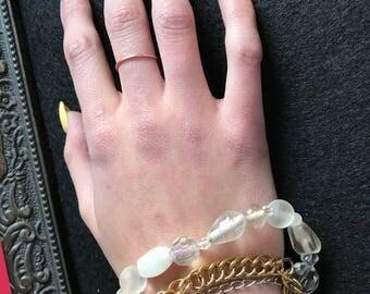4 layer beaded chain bracelet