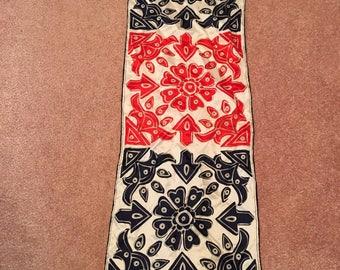 Vintage Long VERA Silk Scarf