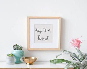 SALE Framed Art Print, Large Wall Art, Framed Photography Print, Choose Any Photograph Framed