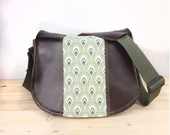 Celtic Waves Camera Bag Black Leather Camera Satchel Bag DSLR- IN-STOCK