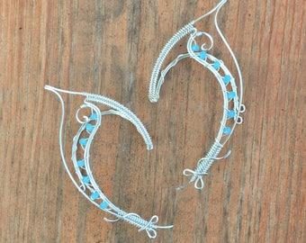 Cold Wind Cuffs. Elven Ear Cuffs. Silver Elven Ear Cuffs. Elf Ears. Halloween Costume. Fairy Ears. Ear Cuffs. Elven Ear Wraps. Fairy Cuffs.