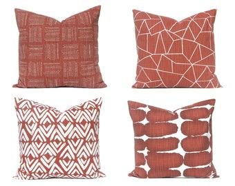 Pillow - Euro Pillow Covers - Rust Home Decor - Decorative Pillow Covers - 22 x 22, 24 x 24, 26 x 26 - Pillow Covers Sofa - Pillow Shams