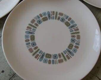 temporama dinner plates set of 4 mid century dining atomic living canonsburg pottery