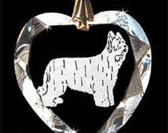 Briard Dog Jewelry Custom Crystal Necklace Pendant, Suncatcher with any Animal or Name YOU Want, Gift, Dog Lover, Handler, Trainer