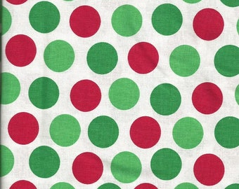Brother Sister Design Studio Green White with Green and Red Polka Dot Fabric (2 1/2 yards)