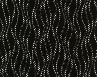 Vanessa Vargas Wilson Fabric Collection - Kinfolk - Wavy Stripe Black