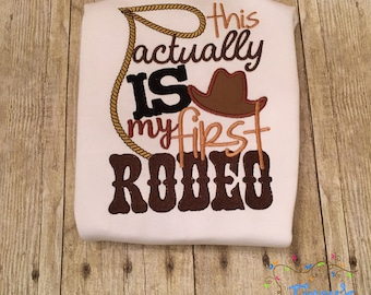 This is Actually My First Rodeo Boy Appliqued Kid's SS T-Shirt