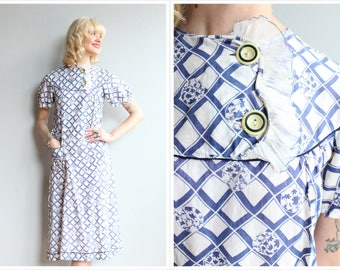 1930s Dress // Porch Swing Summer Dress // vintage 30s dress