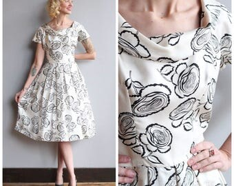 1950s Dress // Suzy Perette Silk Dress // vintage 50s dress