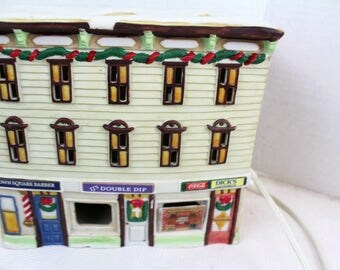 coca cola ceramic village house home decor vintage collectible