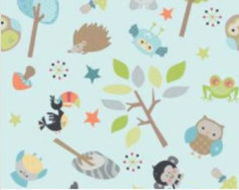 boppy lounger cover, Ships Today- boppy lounger  cover , cotton  woodland animals with topazminky back