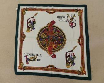 The Book of Kells vintage Scarf - Irish Ladies Scarf - Celtic Design Scarf - Celts Traditional Design - Scarf from Ireland - Ireland