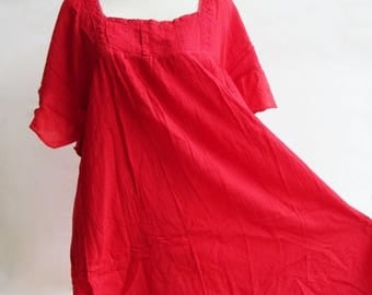 ON SALE 40% off, D24, Red Butterfly Effect Cotton Dress