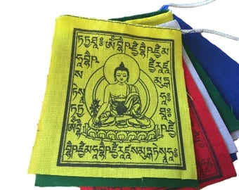 Hands of tibet medicine buddha prayer flags set of 10