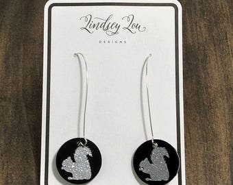 Squirrel Earrings - Squirrel Jewelry - Squirrel Acrylic Earrings