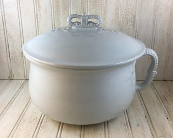 Vintage J & G Meakin Ironstone Chamber Pot