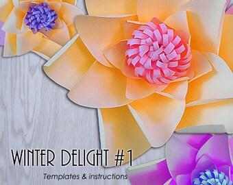 Giant Paper Flower Templates, Paper Flower Template, PDF Paper Flower, DIY Paper Flower,  Paper Flower Tutorial, Paper Flower Instructions
