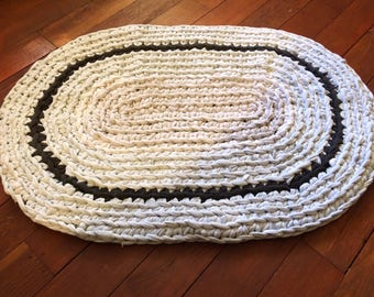 Heather Gray Upcycled Area Rug- Oval