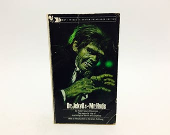 Vintage Horror Book Dr. Jekyll and Mr. Hyde by Robert Louis Stevenson 1973 Classics