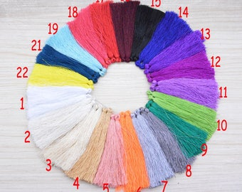 20 Assorted color Silk tassel tassle Silk tassels Tassles High Quality Extra Thick tassels 85mm