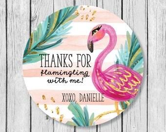Flamingo Sticker, Flamingo Party Sticker, Flamingo Bachelorette Party, Lets Flamingle Sticker, Bachelorette Party Favors, Flamingo Favors