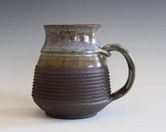 Unique Pottery mug, 13 oz, unique coffee mug, Ceramic Mug, tea mug, handthrown ceramic stoneware, ceramics and pottery