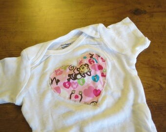 Sweet Monkey baby bodysuit or onesie size 0 to 3 months