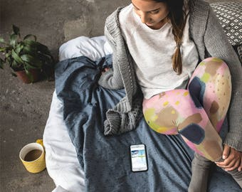 Mystery Floats Back Artist Leggings // ethical bold stylish yoga pants designer leggings capris in abstract painted patterns by lisa barbero