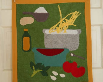 PASTA AND SAUCE Wall Hanging