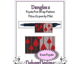 Bead Pattern Peyote(Pen Wrap/Cover)-Dangles 2
