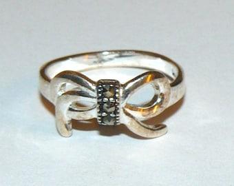 Vintage Sterling Silver Ring Size 6 3/4