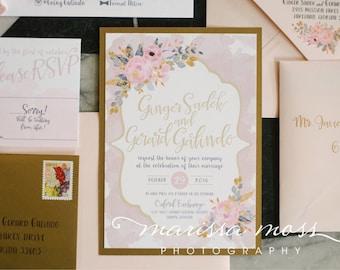Blush Wedding Invite