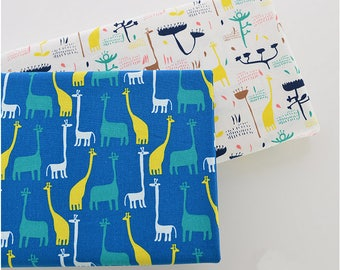 Cotton Linen Fabric Cloth -DIY Cloth Art Manual Cloth -Giraffe 55x19 Inches