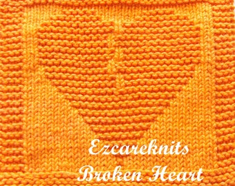 Knitting Cloth Pattern - BROKEN HEART