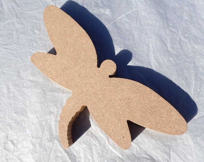 Dragonfly Plaque -  Use as a Base for Mosaics Decoupage or Decorative Painting - Unfinished MDF Small 8 inch Sign