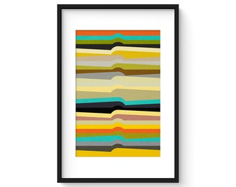 CONTOUR no.2 - Giclee Print - Contemporary Modern Abstract Modernist